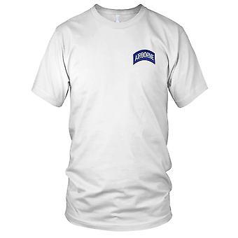 E.U. Exército - exército aerotransportado Rocker Patch Bordado campo azul - feminina T-Shirt