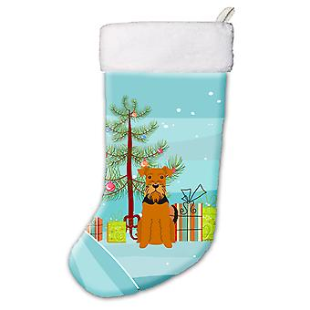Carolines schatten BB4166CS Merry Christmas Tree Airedale Christmas Stocking