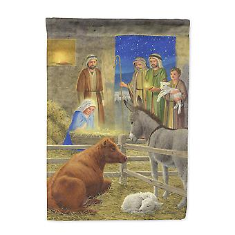 Carolines Treasures  ASA2142CHF Nativity Scene Flag Canvas House Size