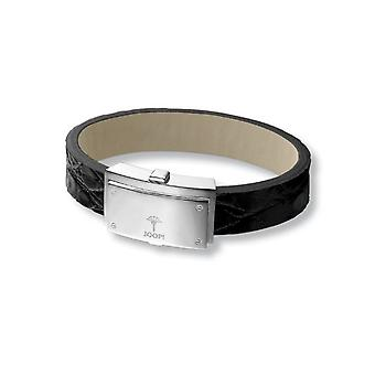 Joop unisex bracelet silver leather screw JPBR90283A210