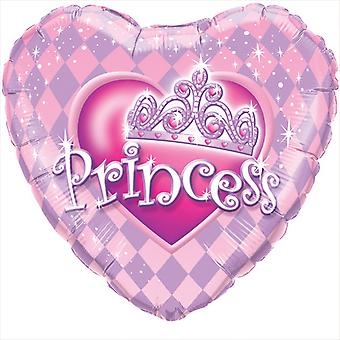 Qualatex 18 Inch Heart Shaped Princess Tiara Foil Balloon
