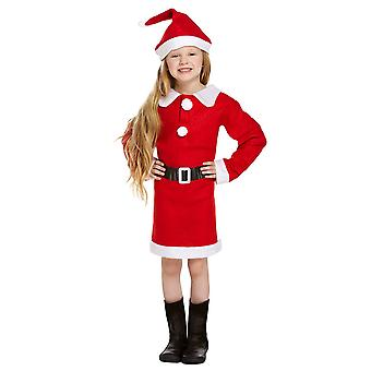 Children's Christmas Santa Mrs Claus Nativity Fancy Dress Costume - 7-9 Years