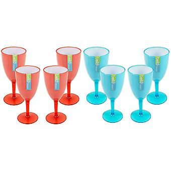 Wine Goblet Set of Wine Glasses Drinks Tumbler Picnic BBQ Outdoor Dining Cups