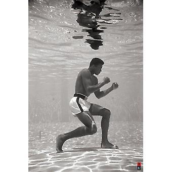 Muhammad Ali onderwater Poster Print (24 X 36)