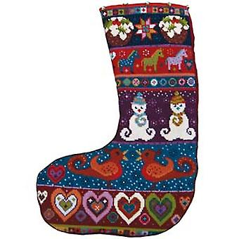Snowman Stocking Needlepoint Canvas