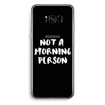 Samsung Galaxy S8 pluss gjennomsiktig sak - morgen person