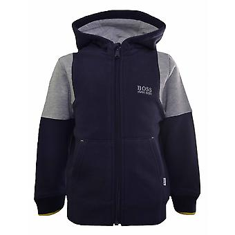 Hugo Boss Kids Hugo Boss Kids Grey Hooded Sweatshirt