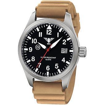 KHS horloges mens watch Airleader staal KHS. VOOR HET EERST UITGEZONDEN. DT
