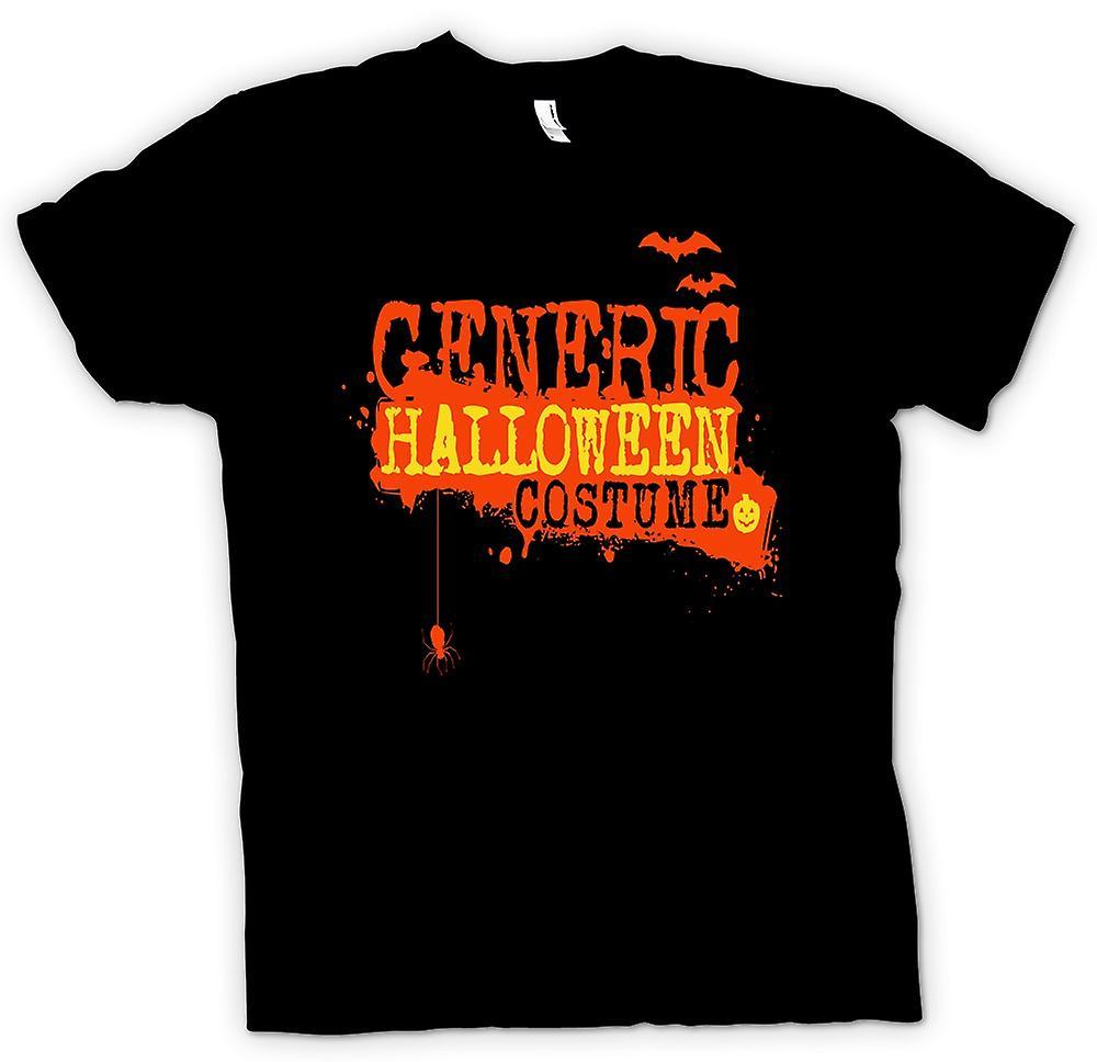 Heren T-shirt - generieke Halloween kostuum - grappige