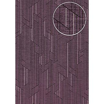 Graphic wallpaper ATLAS XPL-565-1 non-woven wallpaper structures with geometric shapes m2 shimmering purple pastel purple perl-perl pink magenta 5.33
