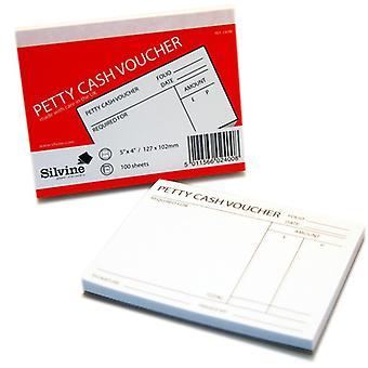 Silvine Petty Cash Voucher Pad boek 100 vellen - Pack van 24