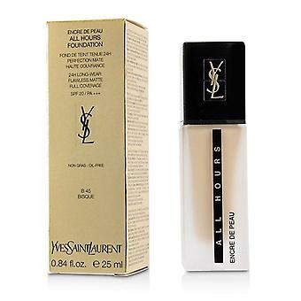 Yves Saint Laurent All timmar Foundation SPF 20 - # B45 Bisque - 25ml/0.84 oz