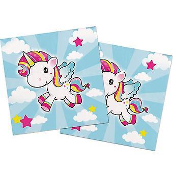 Unicorn partiet serviett servietter 33 x 33 cm 20 stykker Unicorn Unicorn partiet dekorasjon