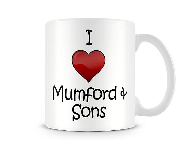 I Love Mumford And Sons Printed Mug