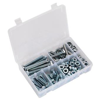 Sealey Ab052Snw Setscrew, Nut & Washer Assortment 150Pc High Tensile M10 Metric