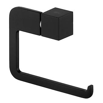 Toilet Paper Rack Wall Mounted Roll Holder Modern WC Black Powder Coated Zamak