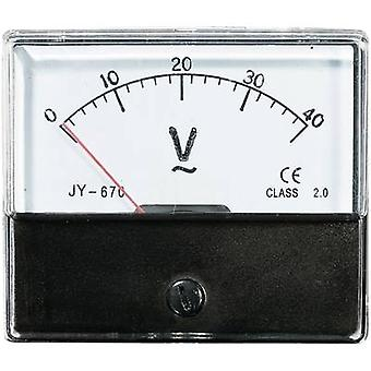 Analogue rack-mount meter VOLTCRAFT AM-70X60/40V 40 V Moving iron