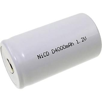 Mexcel D-D4000H Non-standard battery (rechargeable) D High temperature resistant, Flat top NiCd 1.2 V 4000 mAh