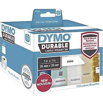 DYMO 1933083 Label roll 25 x 25 mm PE film White 1700 pc(s) Permanent All-purpose labels, Address labels