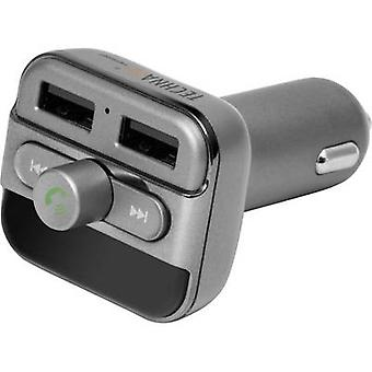 Technaxx FMT900BT FM transmitter incl. hands-free, Built-in MP3 player, incl. iPhone charger