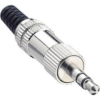 3.5 mm audio jack Plug, straight Number of pins: 3 Stereo Silver Lumberg KLS 44 1 pc(s)