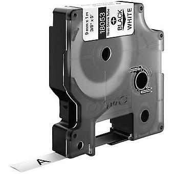 Heatshrink label DYMO 18053 Polyolefin Tape colour: White Font colour: Black 9 mm 1.5 m