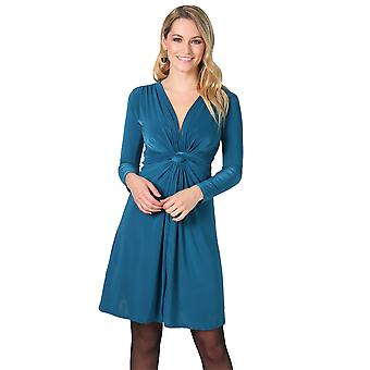 KRISP Long Sleeve Knot Front Dress
