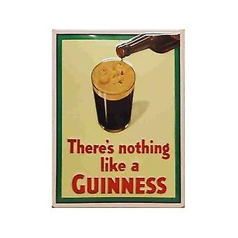 Guinness-Gesicht auf Glas geprägt Stahl unterzeichnen 300 X 200 Mm