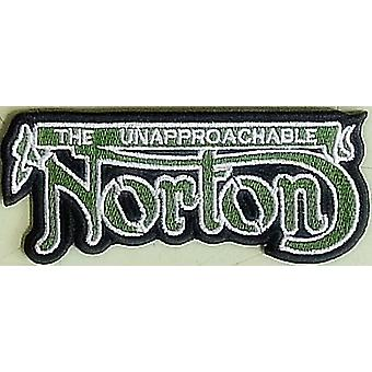 Norton Unapproachable (Green Writing) Sew-On Embroidered Patch