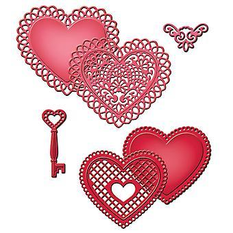 Spellbinders Shapeabilities Dies-Lace Hearts