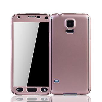 Samsung Galaxy S5 / S5 neo telefoon-cover beschermhoes cover tank bescherming glas roze