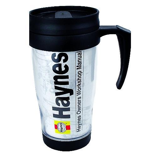 Haynes Thermal Travel Mug / Flask - Car Mechanic Workshop Style