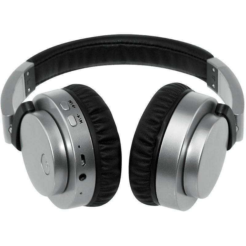 Groov-e GVBT400SR Fusion Wireless Bluetooth or Wired Stereo Headphone - Silver