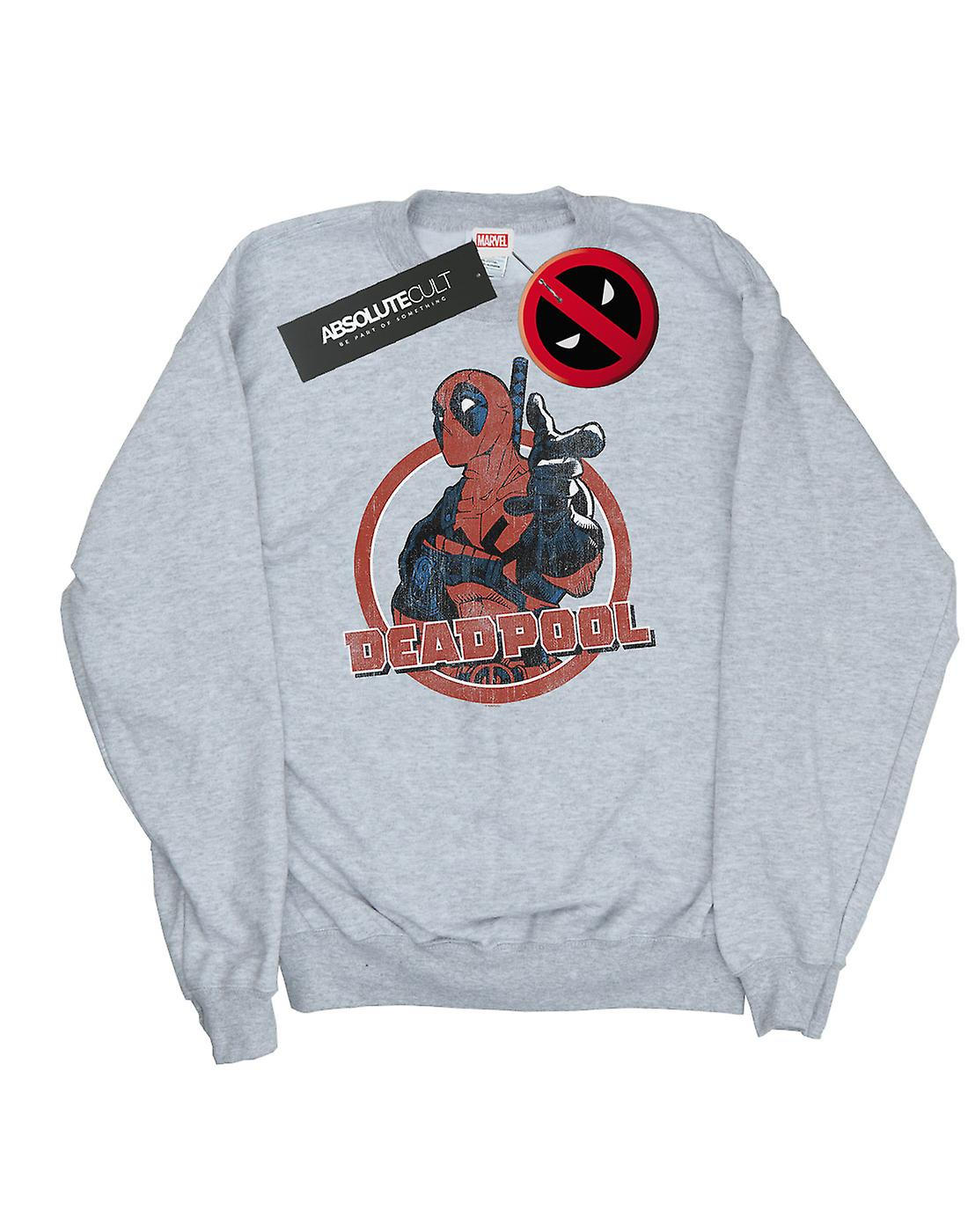Marvel jungen Deadpool Gun Finger Sweatshirt