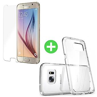 Stuff Certified ® Samsung Galaxy S6 Transparent TPU Case + Screen Protector Tempered Glass