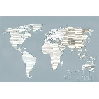 Calm World Map Poster Print by Moira Hershey
