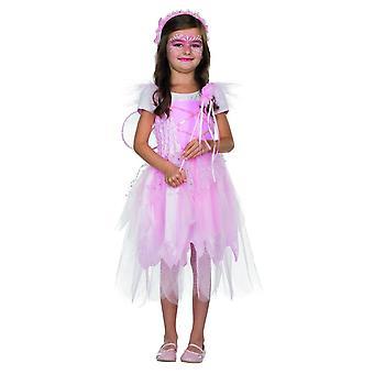 Fairy Luna kostuum jurk roze Kids carnaval carnaval maan Elf meisje