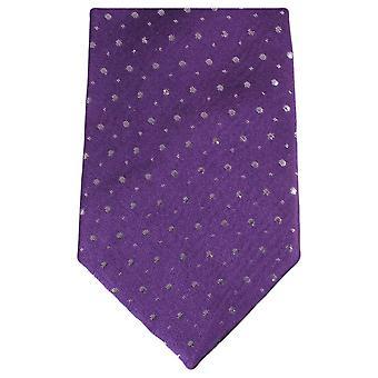 Knightsbridge Neckwear Glitter Tie - Purple