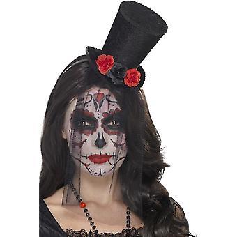 Smiffy Tag der Toten Mini Hut, schwarz