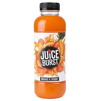 Saft-Burst-Orange und Karotten-Saft trinken