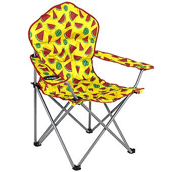 Trail Padded Camping Chair Festival Funky Folding Seat Watermelon With Bag