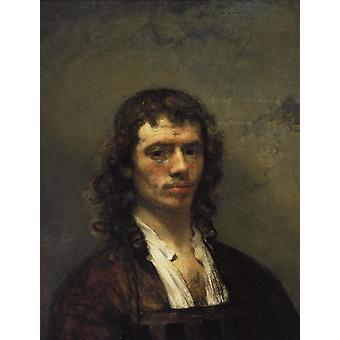 Autoportrait, Carel fabritius, 65x49cm