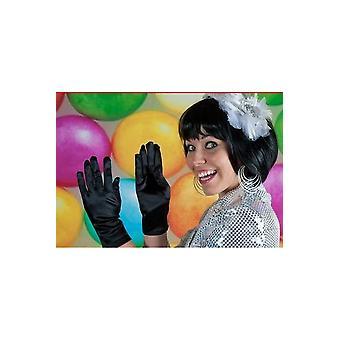 Handschoenen kort handschoenen Zijdeglans zwart