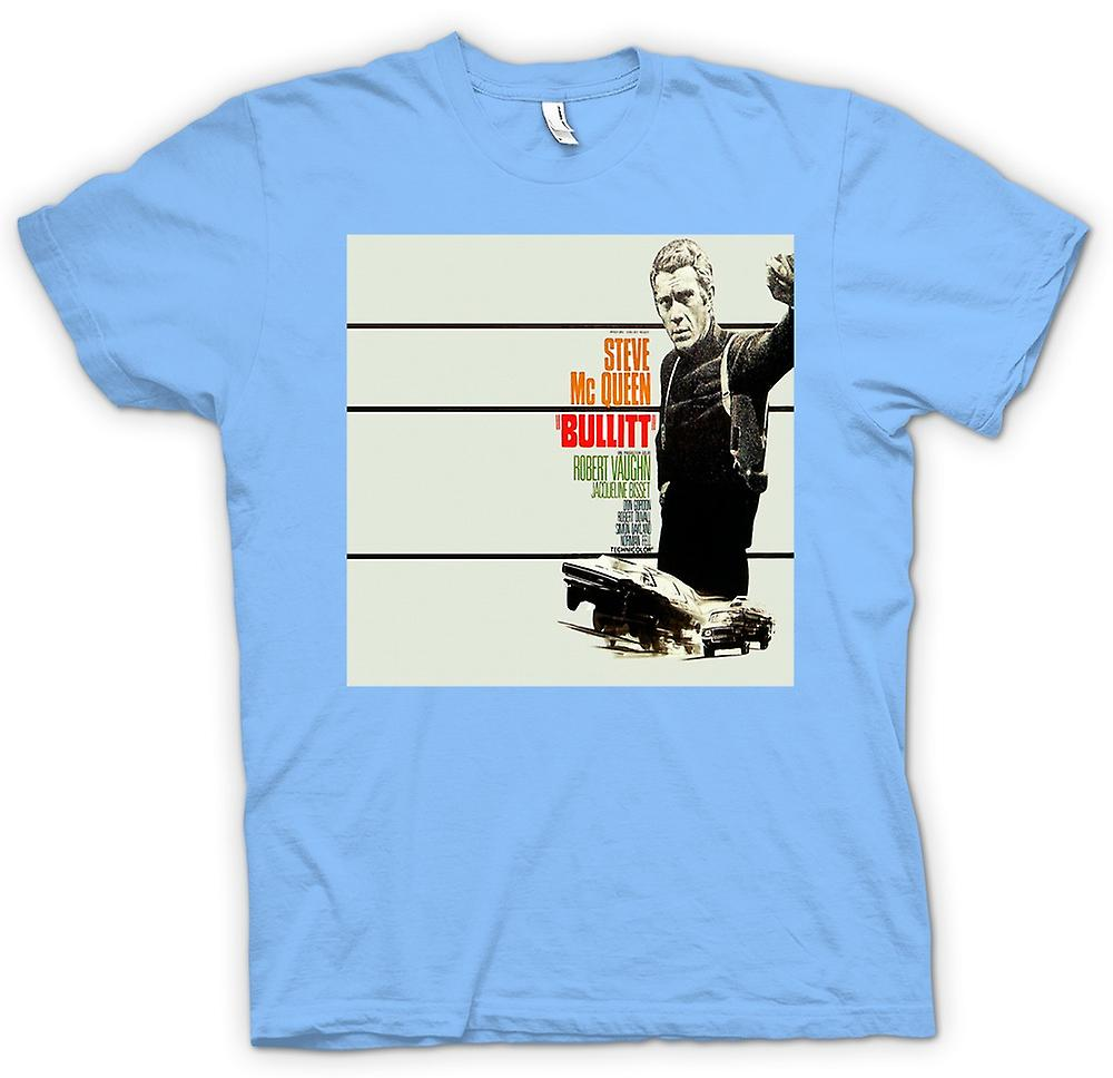 Camiseta para hombre - Steve Mcqueen - Bullit - cartel