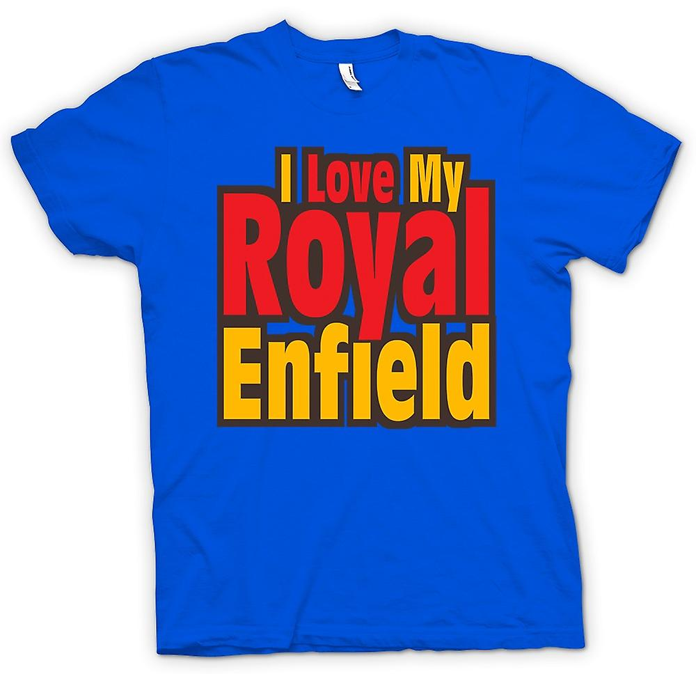 Mens T-shirt - I Love My Royal Enfield - Motorcycle - Biker