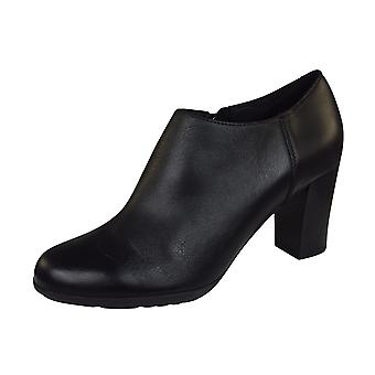 Geox D Annya A Nappa Leather Womens Shoes / Heels  - Black