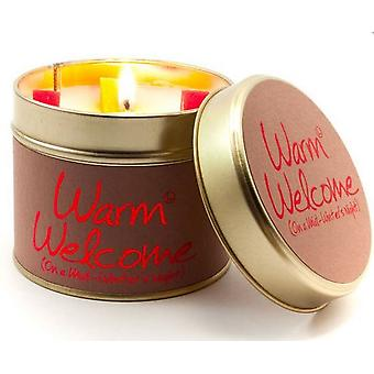 Lily Flame Scented Candle in a presentation Tin - Warm Welcome