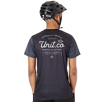 Unit Charcoal Voyage Short Sleeved MTB Jersey