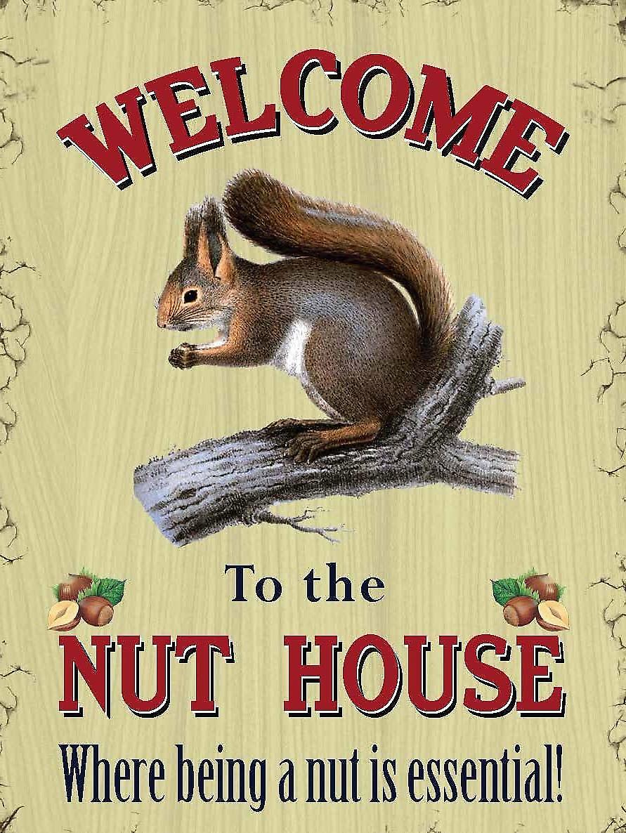 Welcome To The Nut House funny fridge magnet  (og)