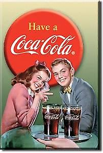 Coca Cola Young Couple fridge magnet  (de)